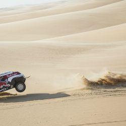 Carlos Sainz, ganador del Dakar 2020 con un MINI JCW Buggy. Foto: Red Bull Content Pool.