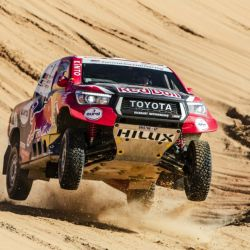 Nazer Al-Attiyah, 2° con Toyota Hilux en el Rally Dakar 2020. Foto: Red Bull Content Pool.