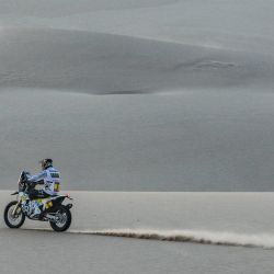 A bordo de una Husqvarna FR 450 Rally, Pablo Quintanilla fue 2° en la categoría Motos en el Dakar 2020.