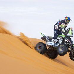 Ignacio Casale, 1° en la categoría Cuadriciclos del Dakar 2020 con Yamaha Raptor 700. Foto: Red Bull Content Pool.