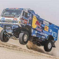 Andrey Karginov (Kamaz 43509) 1° en la categoría Camiones en el Rally Dakar 2020. Foto: Red Bull Content Pool.