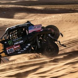 Casey Currie (Can-Am Maverick), 1° en la Categoría SSV en el Dakar 2020. Foto: Monster Energy Can-Am.