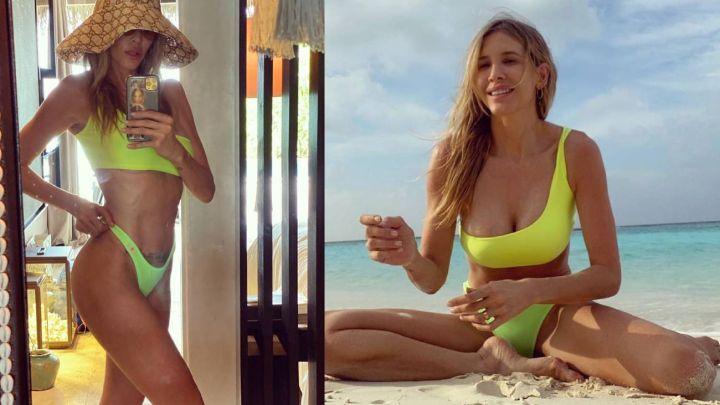 Bikini tiro extra alto y flúo: la infernal foto de Guille Valdés que rompió la web
