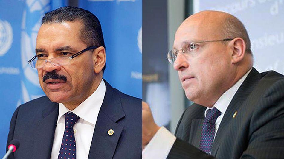 Ex directivos de Interpol Ronald Noble y Joel Sollier.