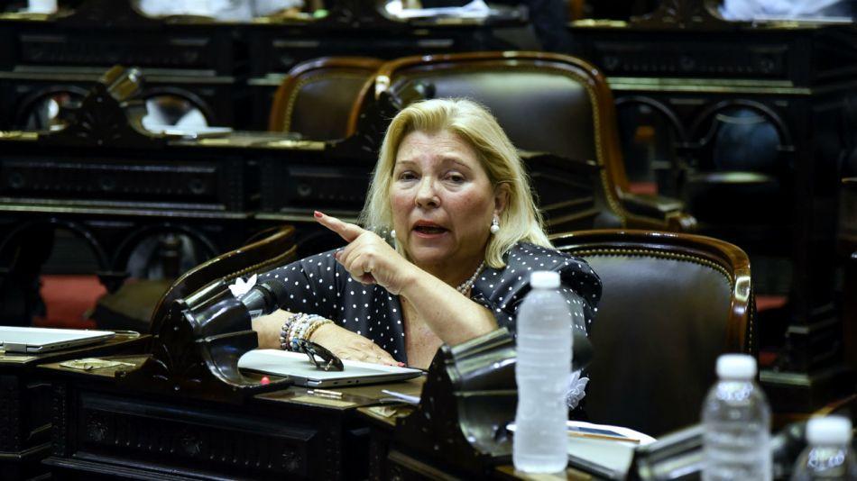 La diputada nacional Elisa Carrió