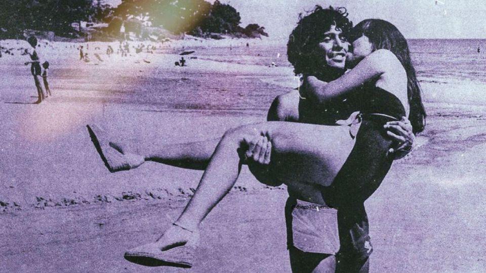 Gianinna Maradona emocionó a sus fans mostrando una foto retro de sus padres