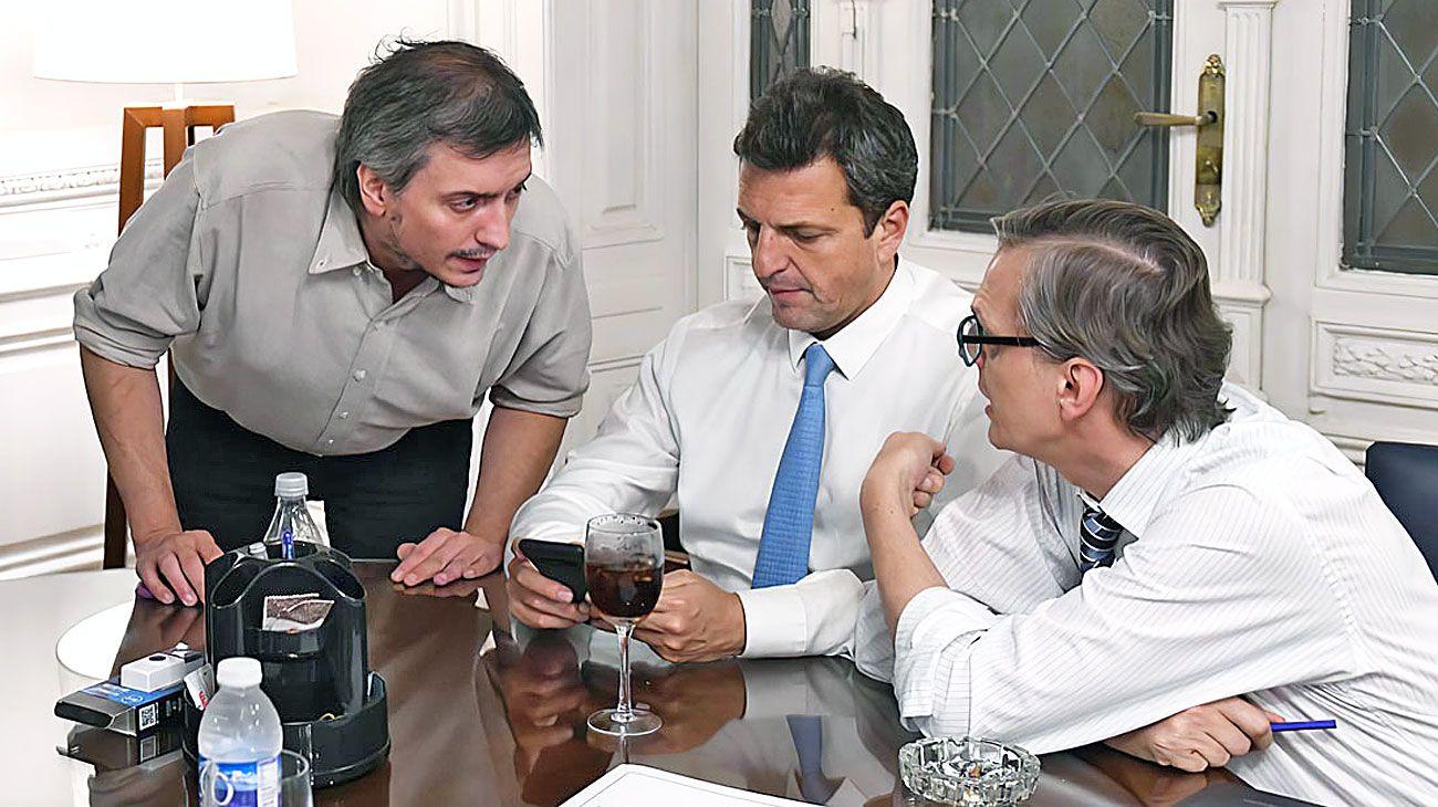 Negociador. Junto a Sergio Massa, Máximo lideró las conversaciones para sacar la ley de emergencia.