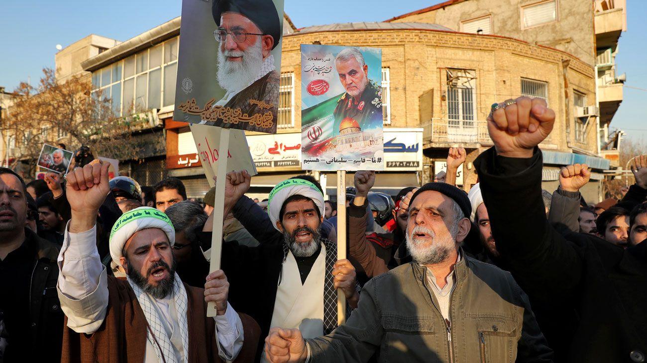 Protestas. El general asesinado era una pieza clave de la expansión iraní en Medio Oriente.