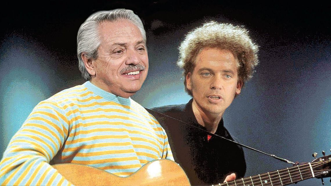 Alberto Fernandez and Axel Kicillof as Simon&Garfunkel.