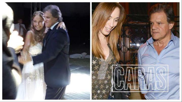 Quique Sacco llevó a María Eugenia Vidal a la fiesta de 15 de su ahijada Melina