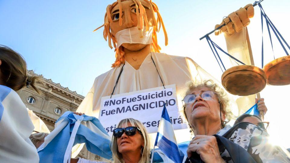 Miles de personas reclamaron Justicia por Nisman a cinco años de su muerte.