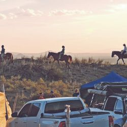 Después de las travesías se podía disfrutar de una relajante cabalgata.
