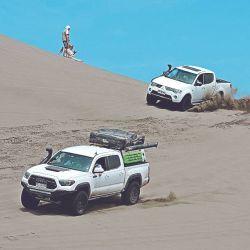 Las dunas exigieron al máximo a los participantes.