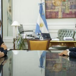 Buenos Aires Governor Axel Kicillof and National Congressman and block leader of the Frente de Todos Máximo Kirchner met today at the Buenos Aires provincial government house, January 15, 2020.