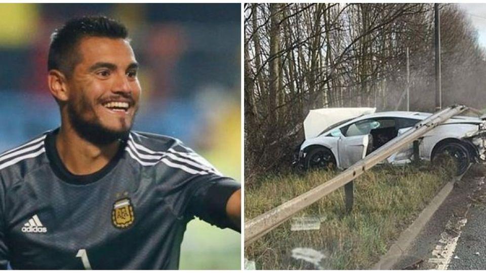 Chiquito Romero se accidentó en la ruta