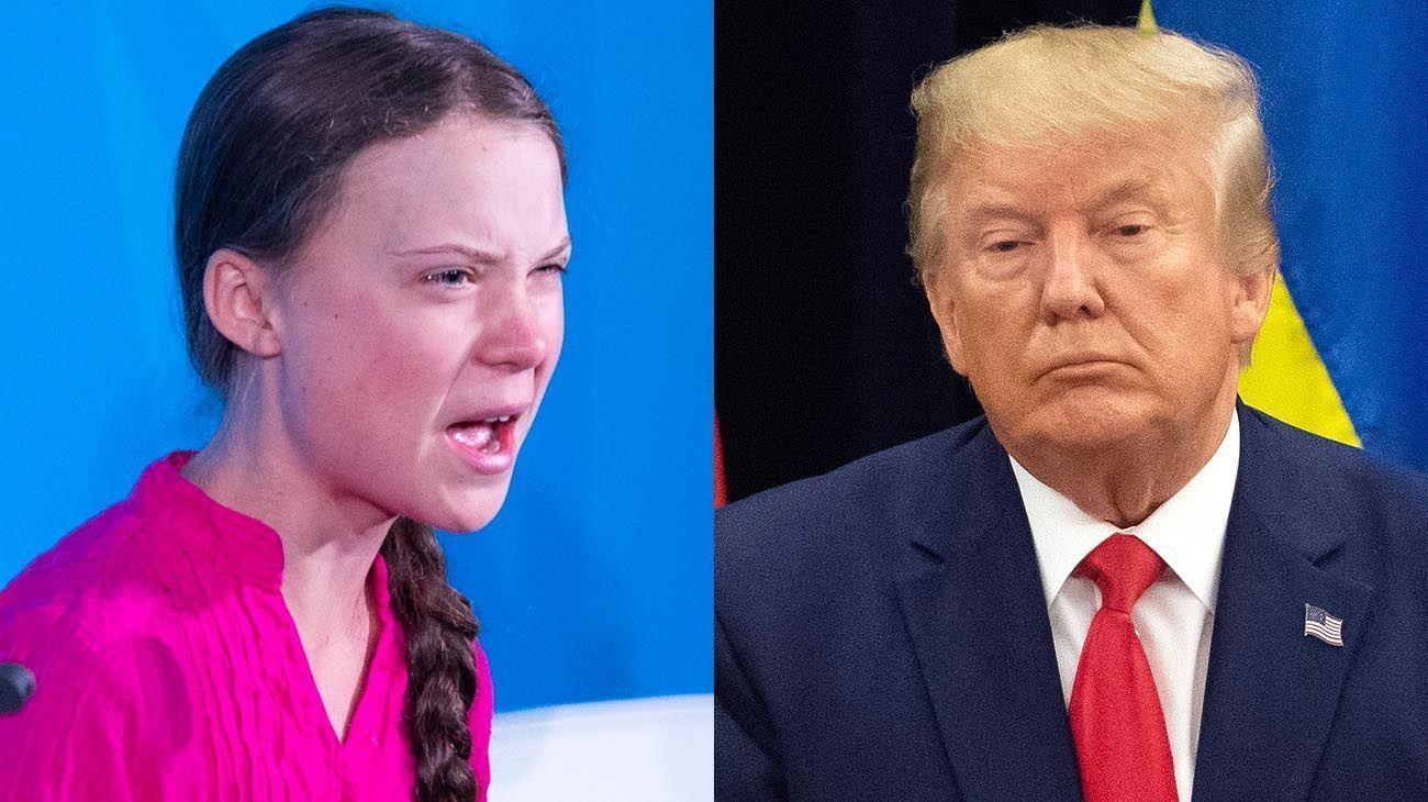 Greta Thunberg y Donald Trump se cruzaron en Davos por el cambio climático
