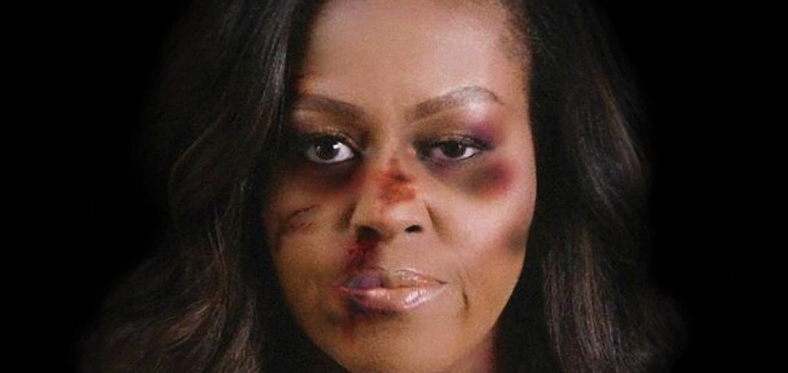"""Conocé al artista que """"golpeó"""" a Michelle Obama para denunciar la violencia de género"""