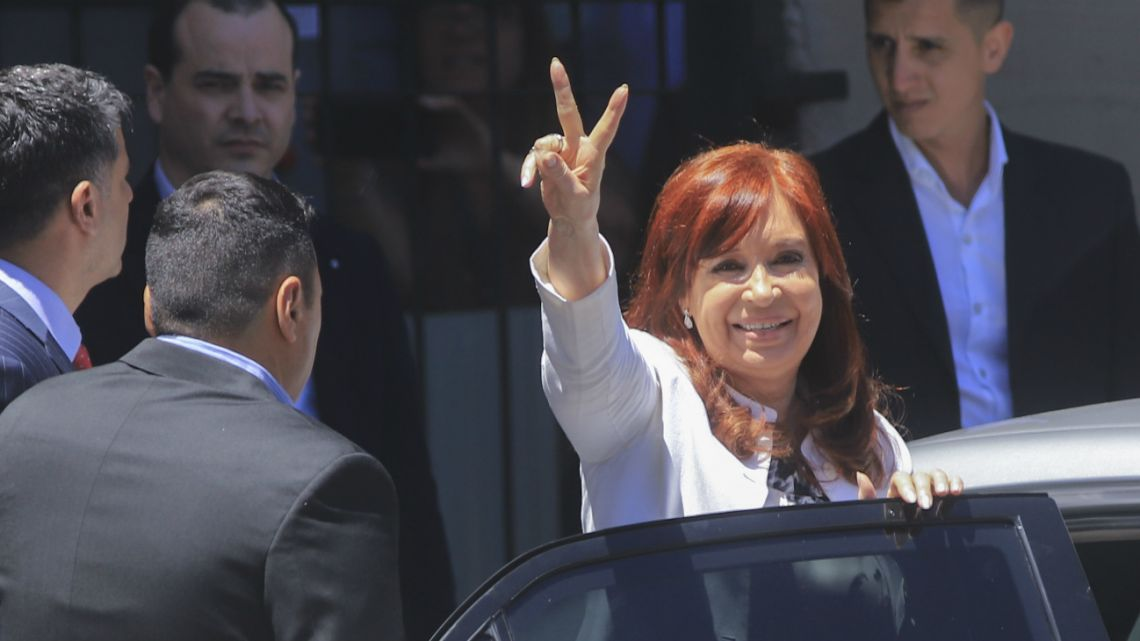Cristina Kirchner before the Federal Supreme Court Oral 8 on 23 December 2019.