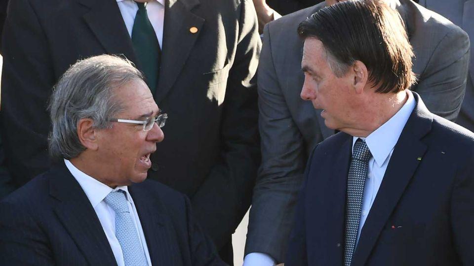 Jair Bolsonaro y Paulo Guedes