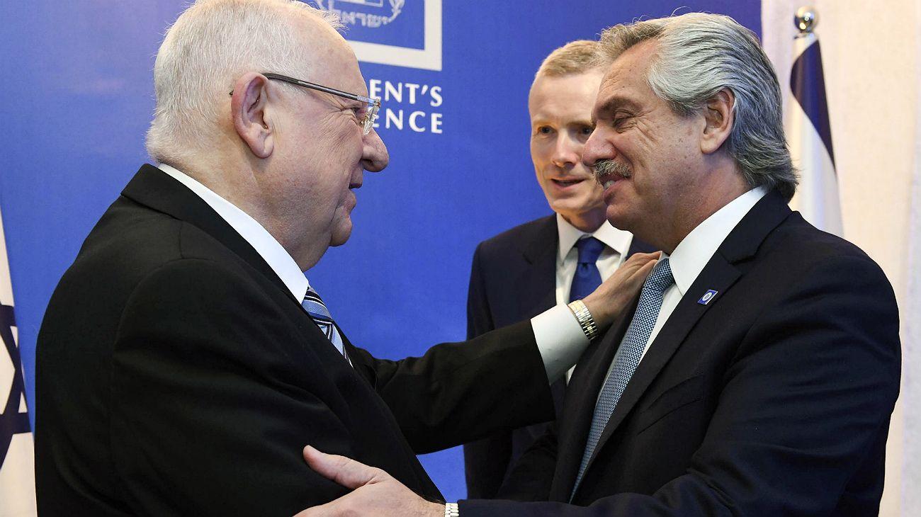 El presidente Fernández participó de la cena de honor a los visitantes en Israel