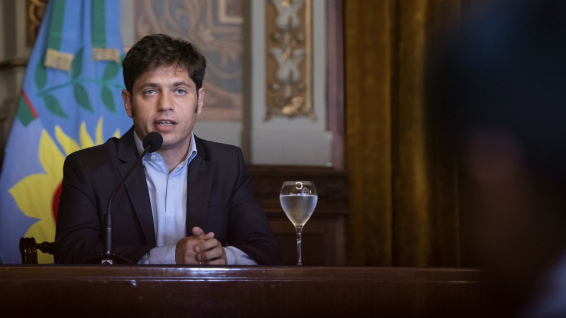 "Buenos Aires Governor Axel Kicillof asked for ""good faith"" from creditors to reissue the bond due at the end of the month, Januray 14 2020."
