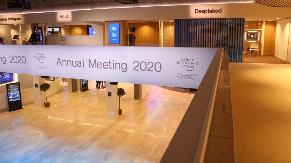 salas de conferencias de Davos 2020