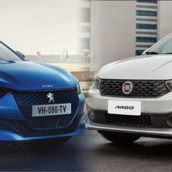 Peugeot 208 y Fiat Argo
