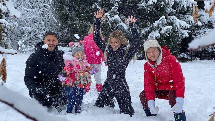 Espiá las vacaciones en la nieve de Austria de Evangelina Anderson y su familia