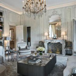 La habitación que diseñó para el Hotel Crillon de París