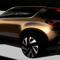 Boceto del SUV compacto que Kia presentará en la India.