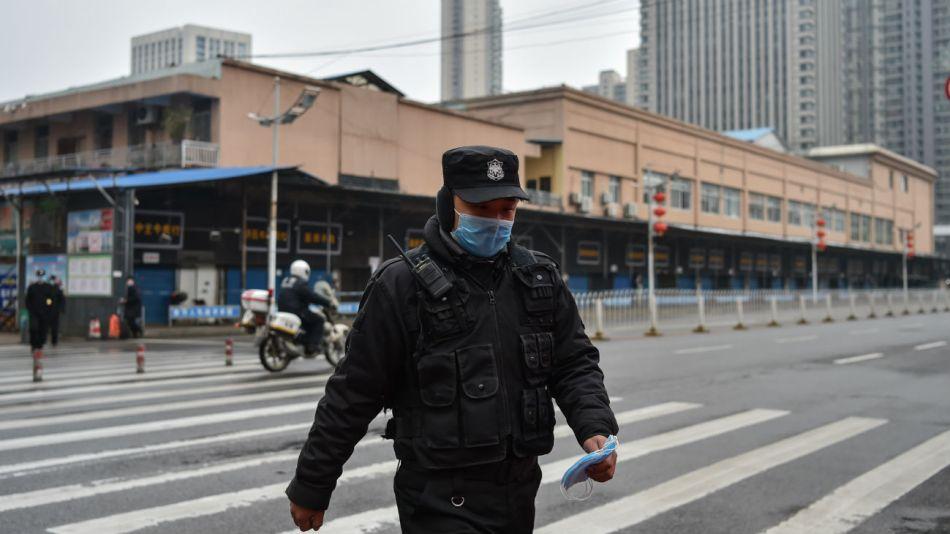 El mercado mayorista de mariscos de Huanan de la ciudad de Wuhan, donde se detectó el coronavirus.