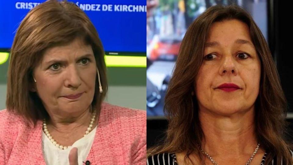 Patricia Bullrich y Sabina Frederic.