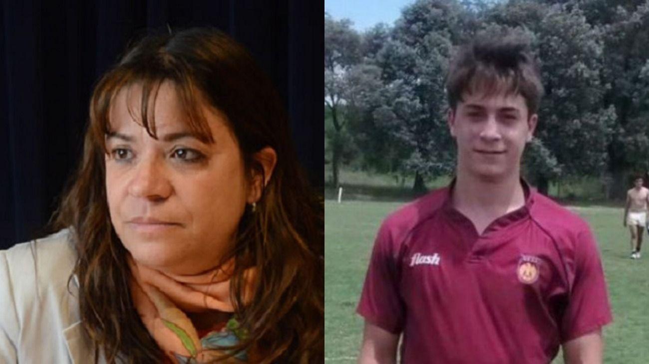 Rosalía Zárate y su hijo Máximo Thomsen, uno de los rugbiers detenidos por el crimen de Fernando Báez Sosa.