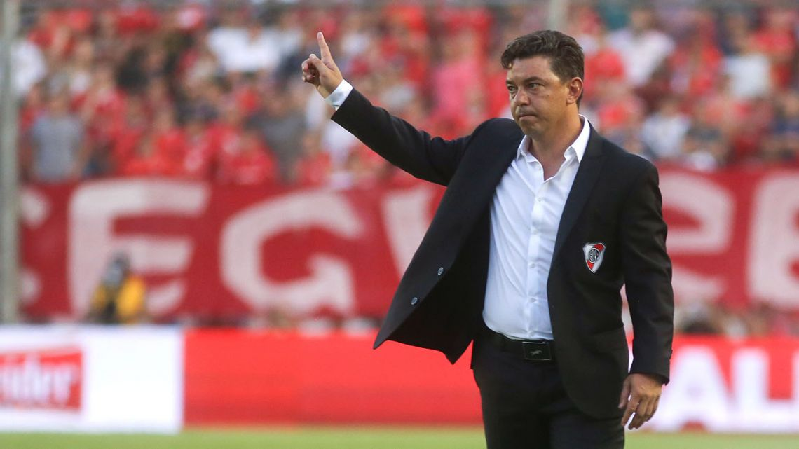 River Plate coach Marcelo Gallardo.