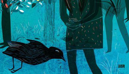 Notas del verano. Corazón y la Negrita cazaron un pájaro.
