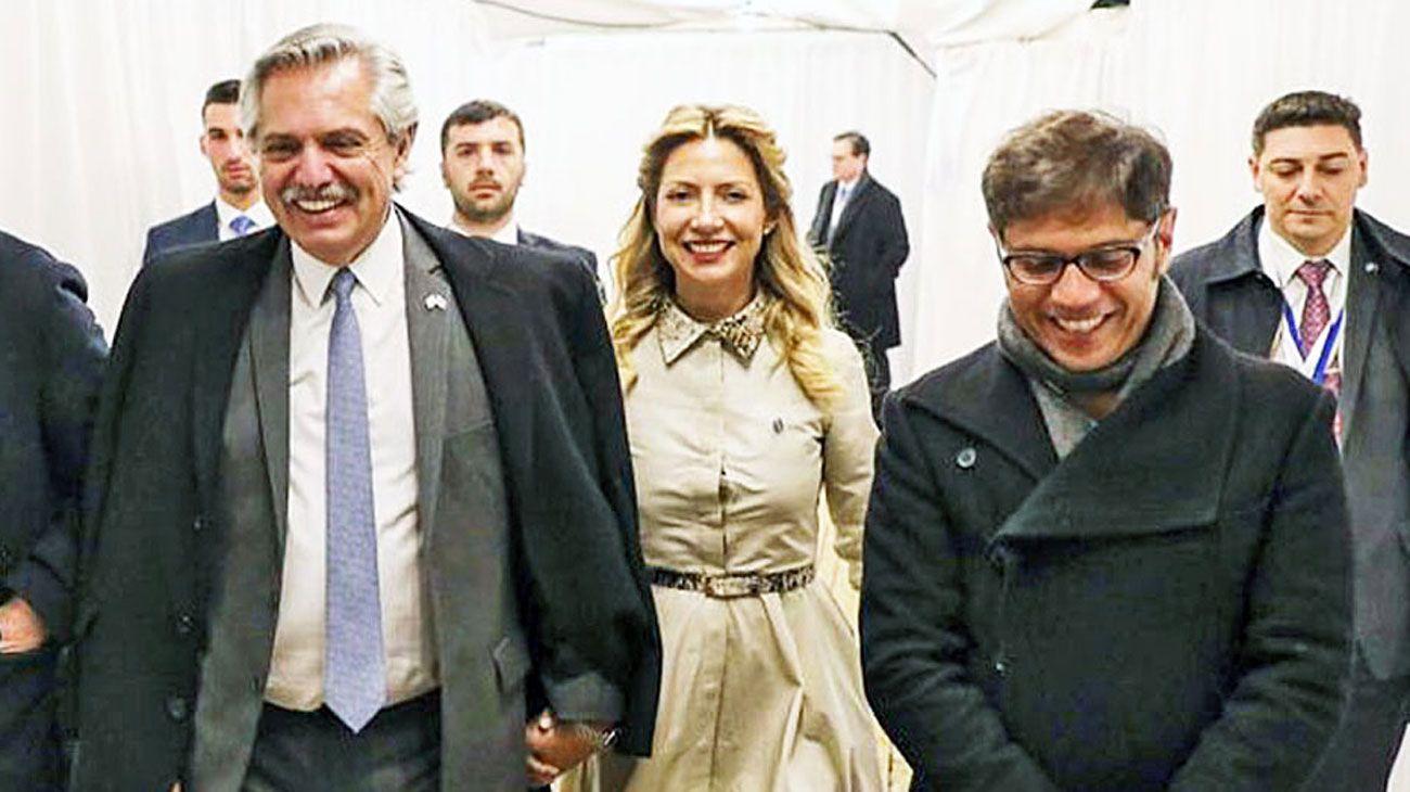 No tantas sonrisas. Alberto F, Fabiola Yáñez y Kicillof en Israel. Viaje charlado.