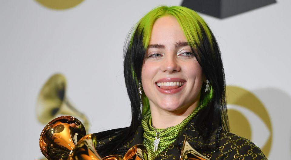 Billie Eilish la más galardonada de los premios Grammy Awards