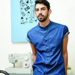 El diseñador de 26 años habla de moda, sustentabilidad y lucro