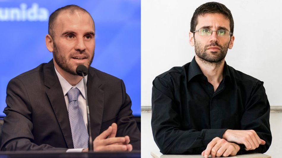 El ministro de Economía Martín Guzmán y el flamante funcionario Emiliano Libman