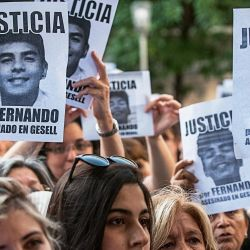 La familia y amigos de Fernando Báez Sosa pidieron Justicia. | Foto:Juan Ferrari