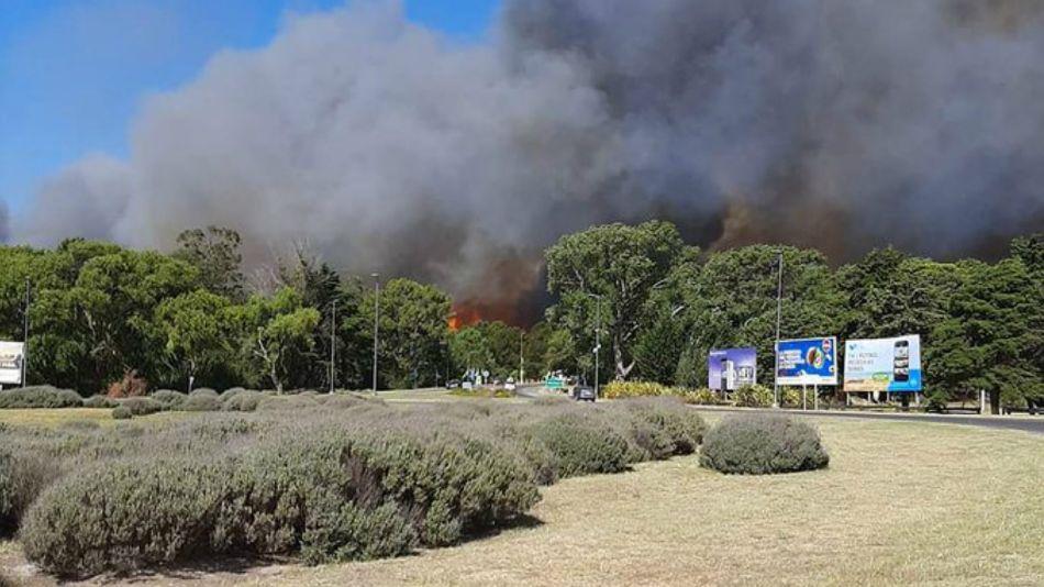 Incendio en Villa Gesell.