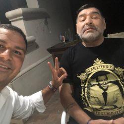 Diego Maradona con el diputado Rodríguez Saá | Foto:Cedoc