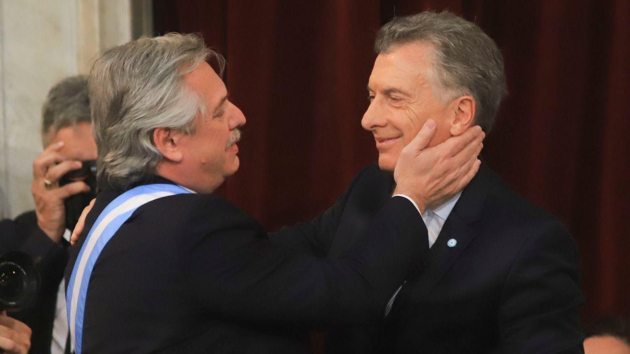 Alberto Fernández y Mauricio Macri, el día del traspaso de mando el pasado 10 de diciembre.