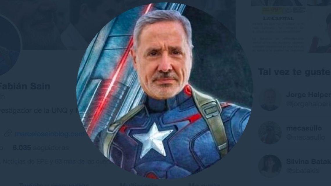 Ministro Sain como Superheroe | Foto:Cedoc