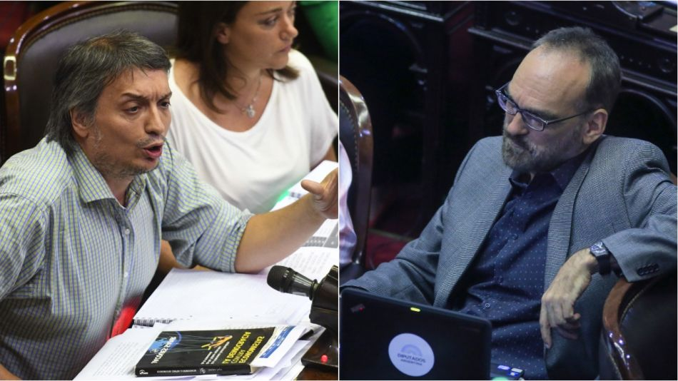 Fernando Iglesias quiso rebatir los números que presentó Máximo Kirchner durante su intervención.