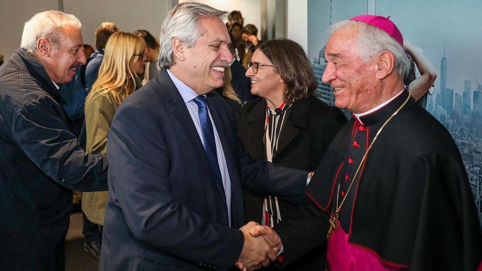 Alberto Fernández llegó a Roma