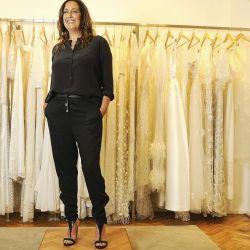 La diseñadora, Pia Carregal, en su atelier.   Foto:Marcelo Escayola
