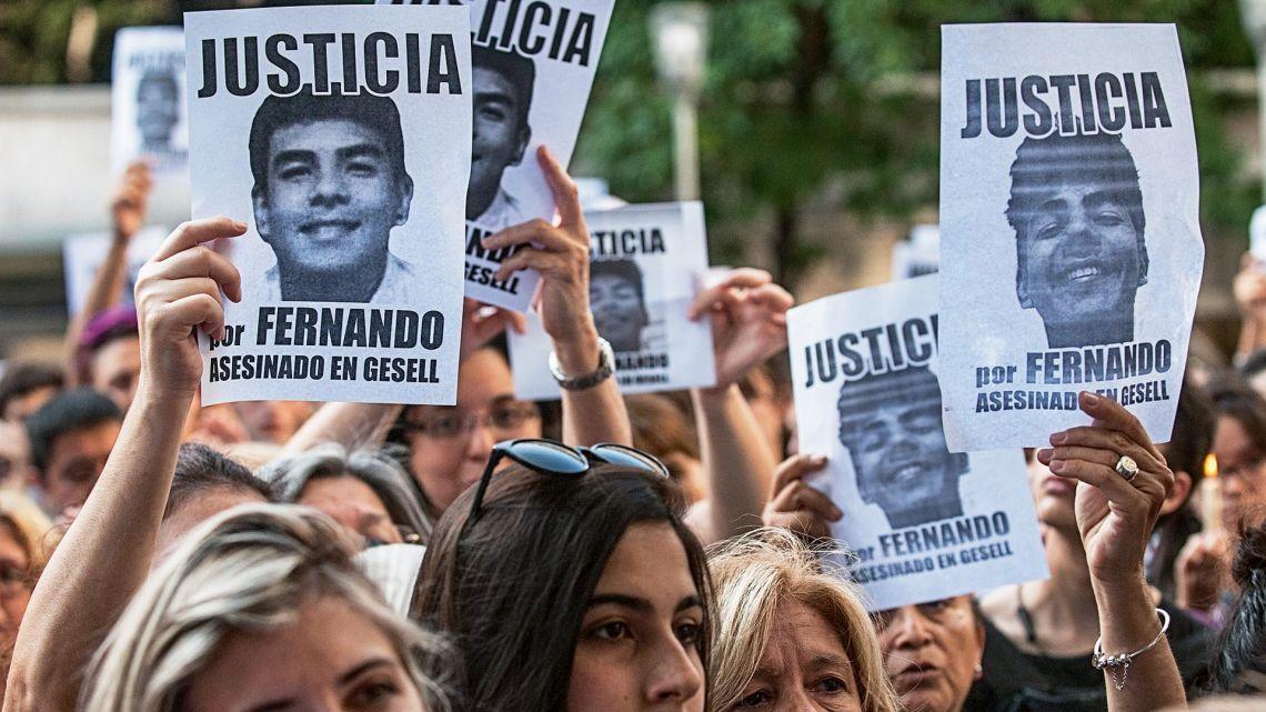 Familiares y amigos pidieron Justicia por Fernando Báez Sosa
