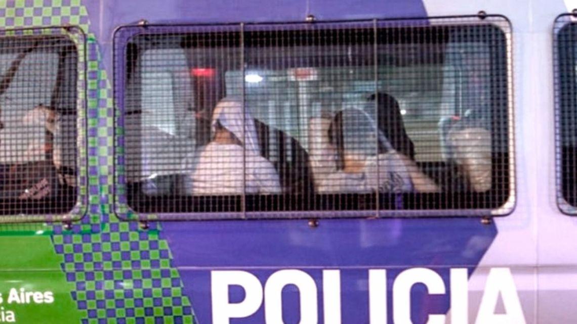 Los rugbiers detenidos | Foto:Cedoc