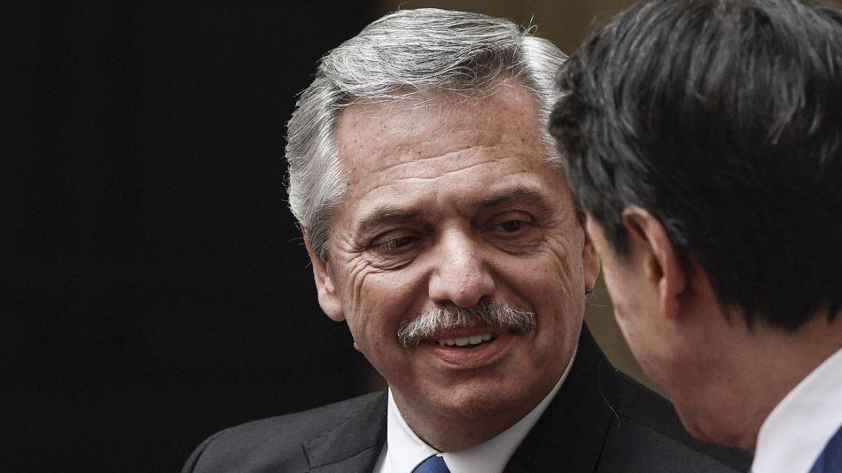 El presidente Alberto Fernández y Giuseppe Conte. 20200131